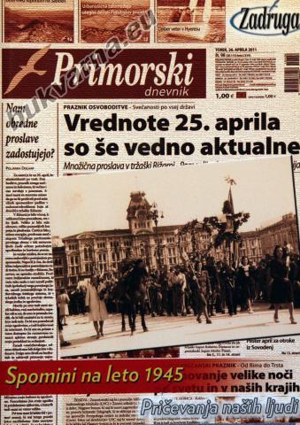 Primorski dnevnik, spomini na leto 1945