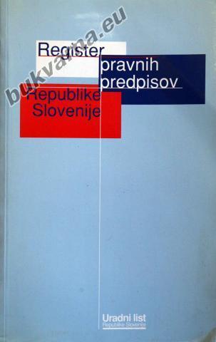 Register pravnih predpisov Republike Slovenije 1998