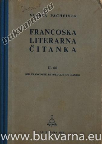 Francoska literarna čitanka 2.del