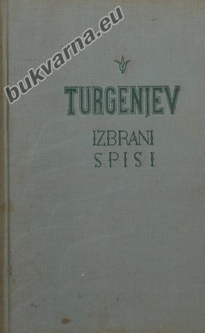 Turgenjev, Izbrani spisi