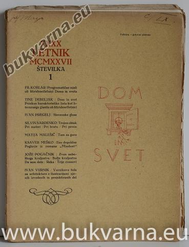 Dom in svet letnik 1927
