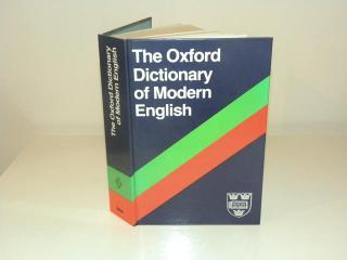 The Oxford dictionary of modern English - second edition