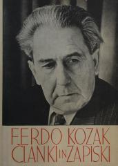 Ferdo Kozak članki in zapiski