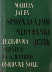 Spoznavajmo slovenski jezik vadnica za 6. razred